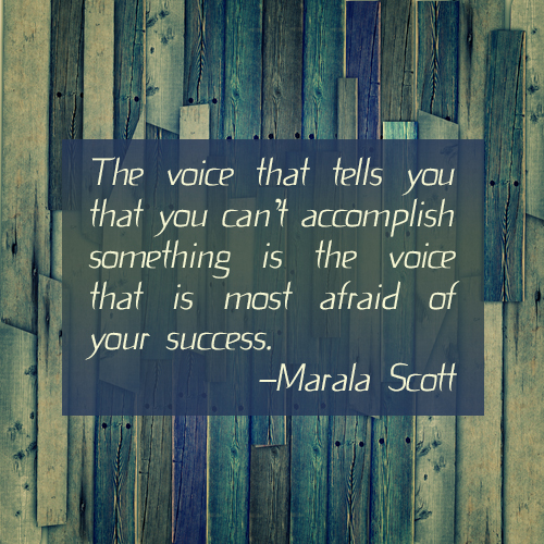voice and success quote